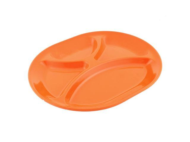 Unique Bargains Restaurant Oval Shaped 4 Compartments Food Dessert ...