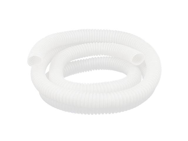 "1.5M//59.1/"" Flexible Plastic Insulation Corrugated Wiring Tube Conduit White"