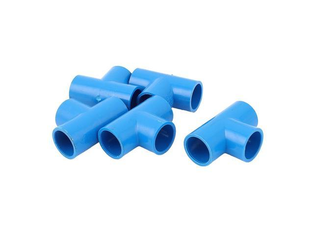5Pcs 20mm Inner Dia U-PVC T Type 3 Way Water Pipe Hose Joint Connector Blue  - Newegg com