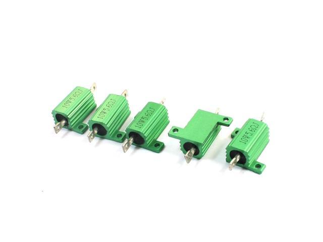 Chassis Mounted Type Aluminum Shell Wirewound Resistors 10W 3 Ohm 2Pcs