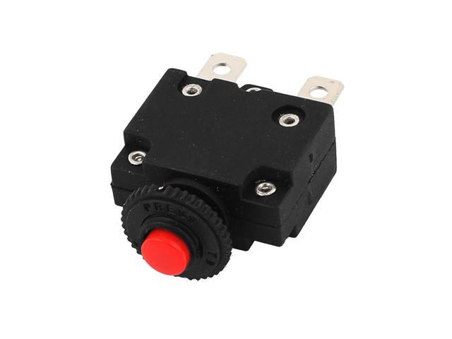 Ac 125 250v 15a Air Compressor Circuit Breaker Overload Protector Red Black