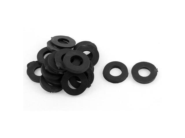Rubber O Ring Seal Grommets Washer 17mm x 9mm x 6mm Black 50 Pcs