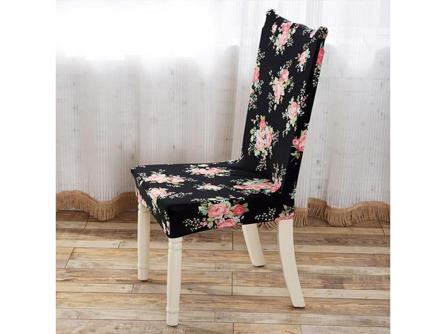 Household Removable Stretch Elastic Slipcovers Dining Room Stool Chair Seat  Covers
