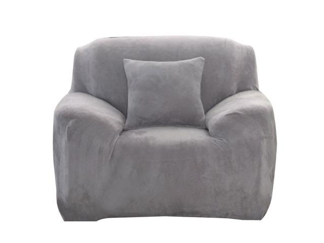 Stretch Single Sofa Chair Covers Slipcover 35 55 Silver Gray