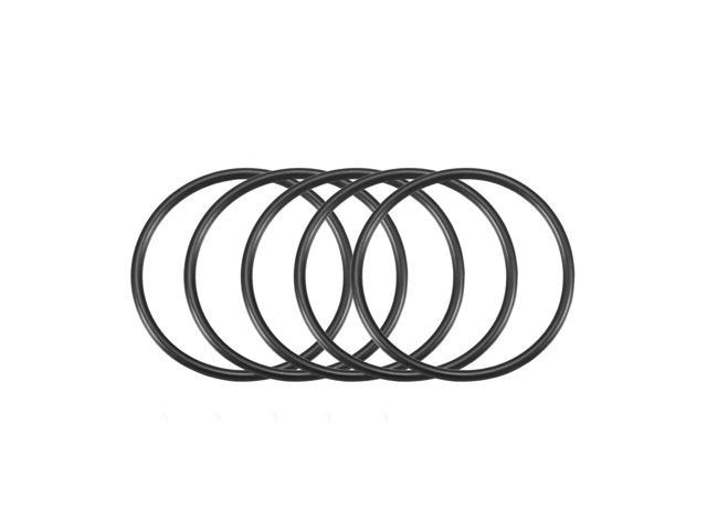 50Pcs Black 8 x 2mm Industrial Flexible Rubber O Ring Oil Sealing Grommets