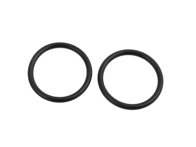 50Pcs 36mm x 3.1mm Black Flexible Nitrile Rubber O Ring Oil Seal Washer Grommets