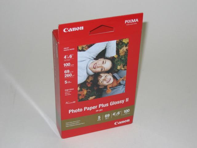 "100 Sheets Brand New Canon Photo Paper Plus Glossy II PP-201 4/"" x 6/"" 2311B023"
