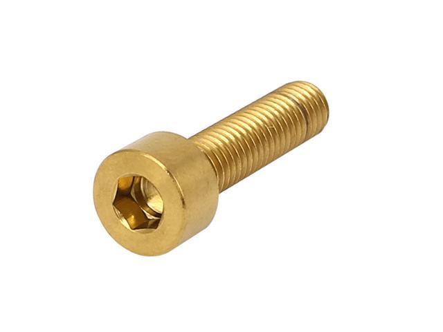 M5x20mm Gold Tone TC4 Titanium MTB Bike Hex Socket Cap Head Bolts Screws  DIN 912 - Newegg com