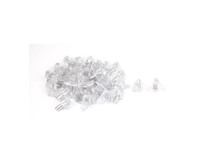 Unique Bargains Kitchen Cabinet Shelves 5mm Metal Pin Plastic Shelf Supports Pegs Studs 50pcs Newegg Com