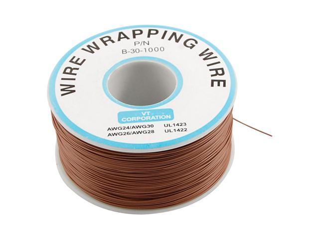 Brown Pvc Coated Tin Plated Copper Wrapping Wire 305m