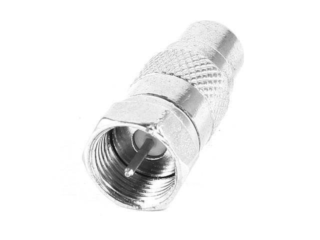 F Type Male Coaxial to RCA Female Adapter Adaptor TV Connector - Newegg com