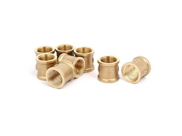 Unique Bargains1/2BSP Female Thread Brass Straight Tube Pipe Connecting  Fittings Couplers 8pcs - Newegg com
