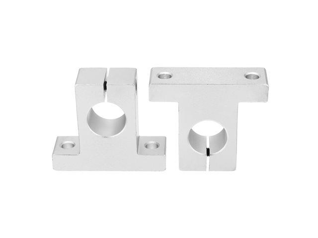 2 Pcs SK25 25mm Bore Linear Rail Shaft Support for Milling Machine
