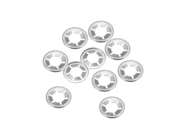 28mm O.D Internal Tooth Lock Washers Push-On Locking Speed Clip 304 Stainless Steel 10pcs Othmro Starlock Washer 14mm I.D