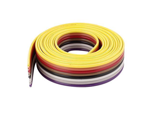 1M 3.3FT 40 Way 40 Pin Flat Color Idc Cable Wire Rainbow Cable Rainbow Ribbon gr