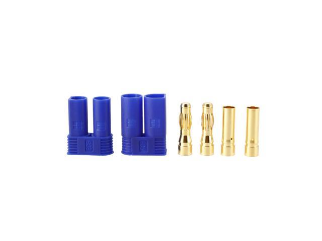 uxcell 1 Sets 5MM Bullets Connectors Banana Plugs Male Female Plug Set with Housing #0252