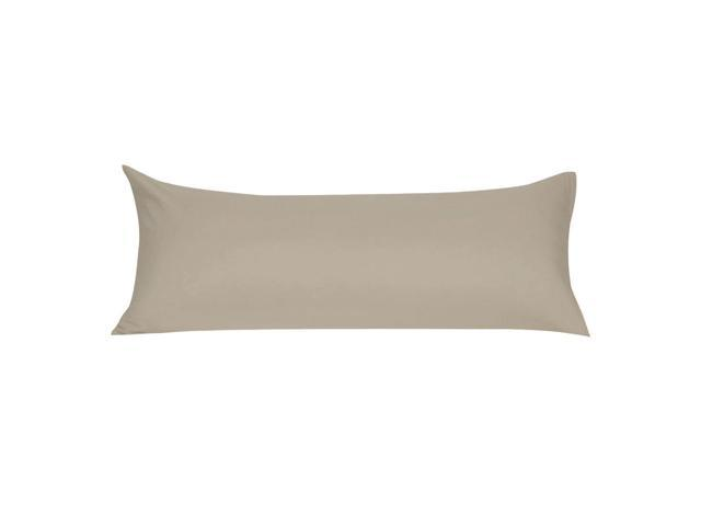 Body Pillow Covers.Soft Microfiber Body Pillow Cover With Zipper Closure Long Pillow Cases For Body Pillows 20 X48 Khaki Newegg Ca