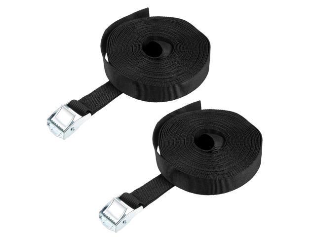7M x 25mm Lashing Strap Cargo Tie Down Straps Cam Lock Buckle Up to 250Kg,  Black, 2Pcs - Newegg ca
