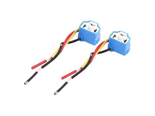 DC 12V H4 Car Light Socket Ceramic Headlight Wire Harness Adapter H Wiring Harness Adapter on