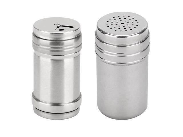 Seasoning Storage Box Stainless Steel Rotatable Spice Shaker for Home Restaurant