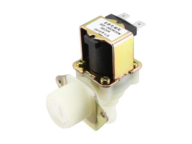 Sensors G3//4 Water Solenoid Valve DC 24V N//C 20mm Male Threads Outlet with Filter