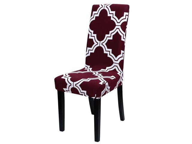 Dining Chair Covers,Stool Slipcover Stretch Spandex Chair Protectors Short  Kitchen Chair Seat Cover for Home Dining Room Party Wedding(Medium,#22)