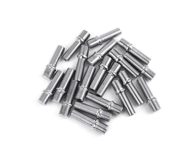 20 Pack 50mm Wheel Stud Conversion M14*1.5 to M12*1.5 Extended Shank Adapter