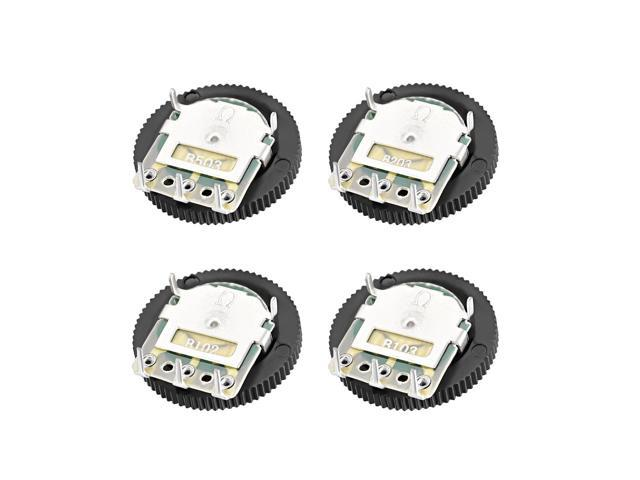 10K Ohm Dial  Wheel Potentiometer for Audio Stereo Volume Switch Control 5Pcs