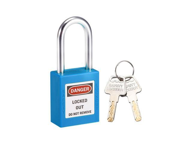 3Pcs Lock Safety Padlock Keyed Different for Lockout//Tagout