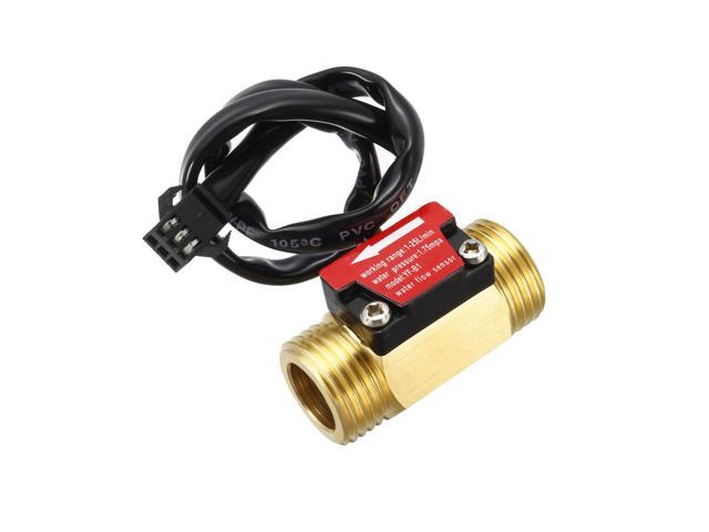 Flow Sensor G1//2/'/' Water Flow Hall Sensor Switch 1-25L//min Flow Meter Flowmeter