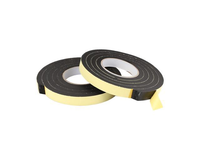 Weather Stripping Tape Foam Insulation Single Side Adhesive 6 6ft x 3/5  inch x 4/5 inch - 2pcs - Newegg com