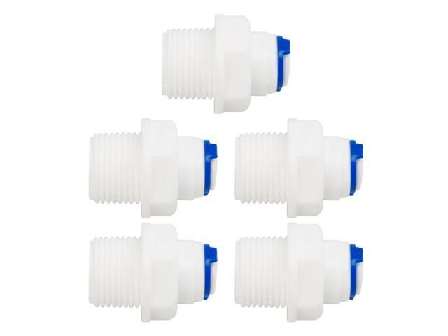1//4/'/' Tube x 3//8 BSP Thread Quick Connect 10pcs for RO Water Reverse Osmosis