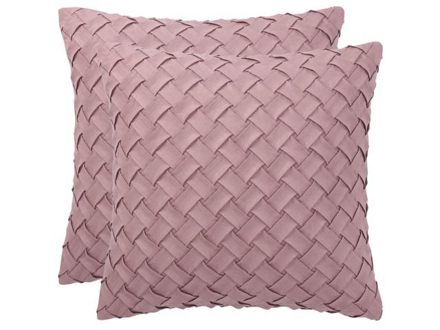 Weave Pattern Home Cushion Cover Plush Throw Pillow Case Sofa Bedroom Decoration