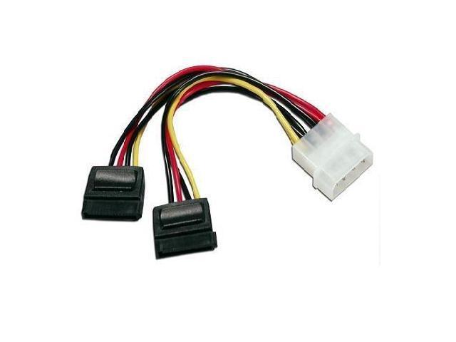 2 Port SATA Splitter Power Cable X 15 Pin