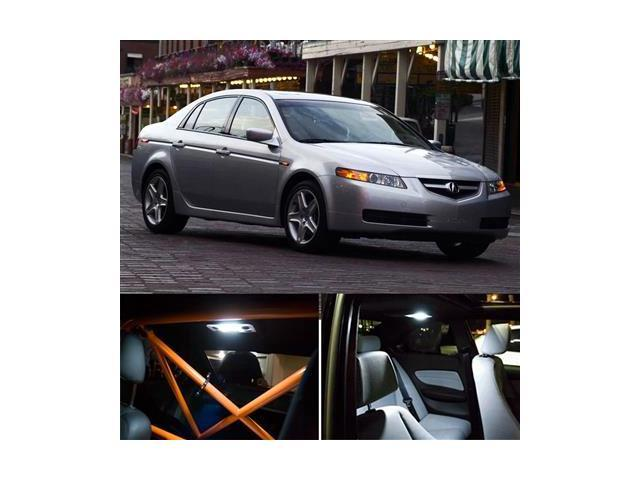 7 pieces acura tl interior package led lights kit 6000k - 2004 acura tl led interior lights ...