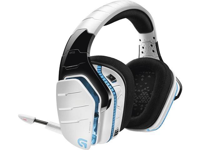 Logitech G933 Artemis Spectrum Wireless RGB 7 1 Dolby and DST Headphone  Surround Sound Gaming Headset - White - Newegg com