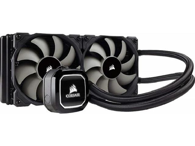 Corsair Hydro Series H100x Extreme Performance Liquid / Water CPU Cooler   240mm (CW-9060040-WW) - Newegg com