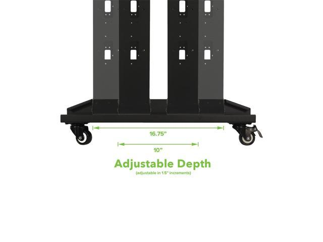 """7ft Open Frame 19/"""" 42U 4-Post Network Server Relay Rack Rolling with Casters"""