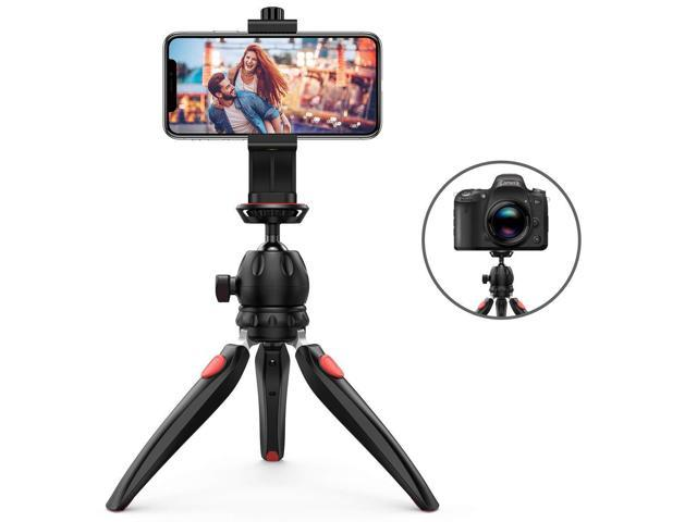 Criacr Phone Tripod, Flexible Cell Phone Tripod, Adjustable Camera Stand  Holder, with Wireless Remote Shutter, 360° Rotating Phone Tripod Mount