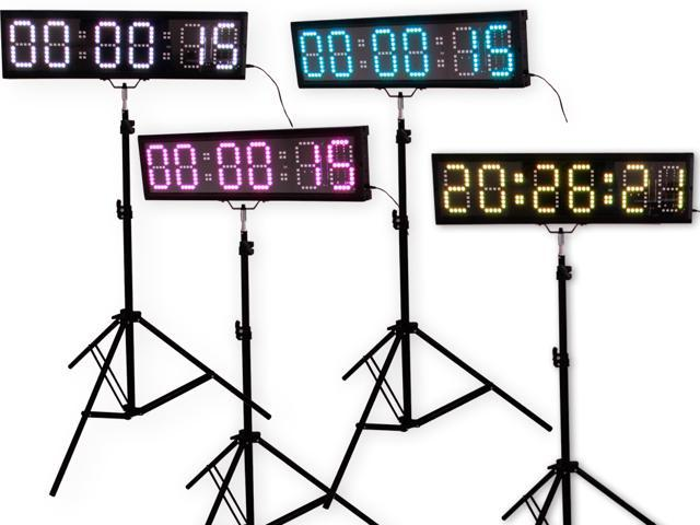 EU DISPLAY EU 5 6 digits LED Countdown Clock Race Timing For Running Events APP With IR Remote