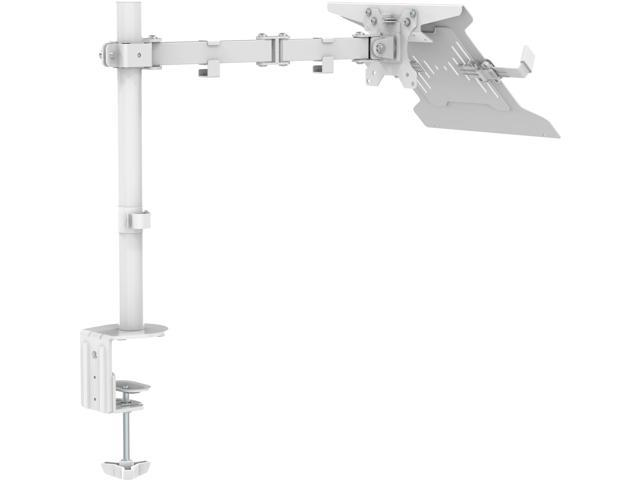VISION Monitor Desk Post Mount with laptop shelf - suits