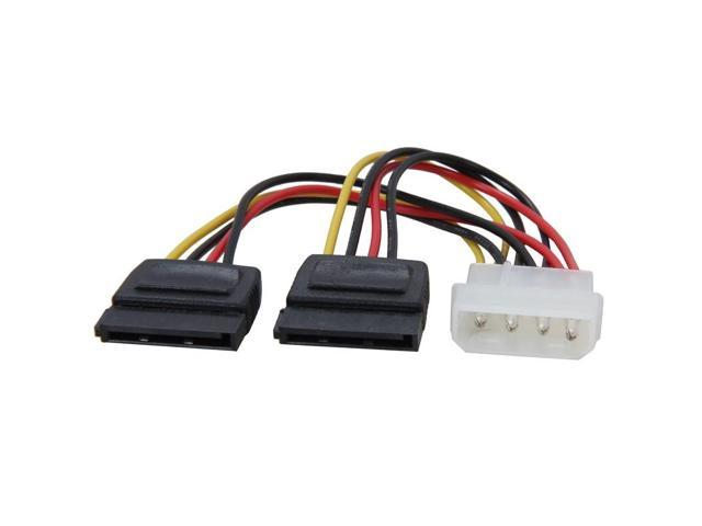 SATA Power 15 Pins Y-Splitter Cable Adapter Male To Female For HDD Hard Drive CA