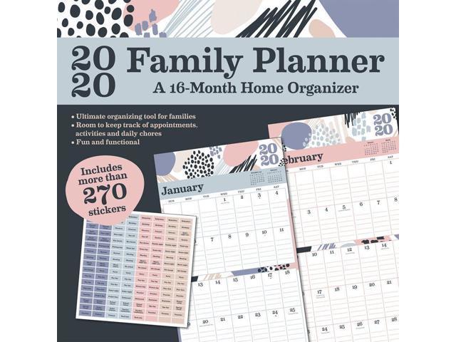 picture regarding Family Planner Calendar identify 2020 Relatives Planner Wall Calendar, via Tendencies Global -
