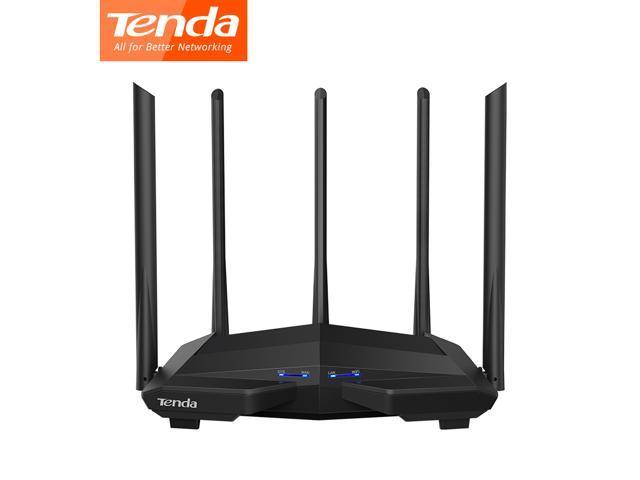 Tenda Ac11 Gigabit Dual Band Ac1200 Wireless Wifi Router Wifi Repeater With 5 6dbi High Gain Antennas Newegg Com