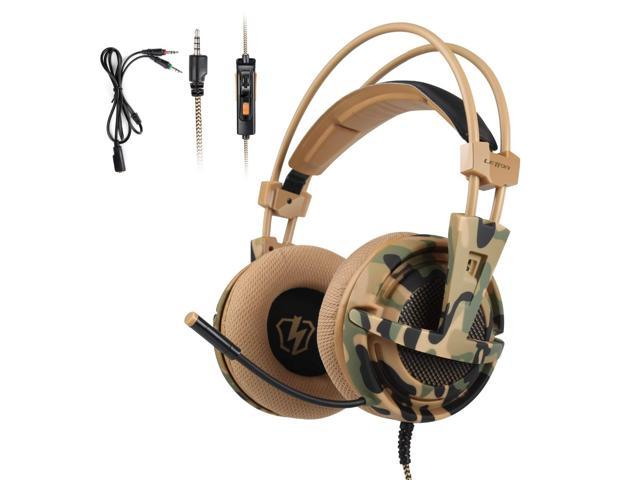 Letton L1 Camouflage Headset Bass Gaming Headphones Game Earphones With Mic For Ps4 Pc Mobile Phone New Xbox One Tablet Newegg Com
