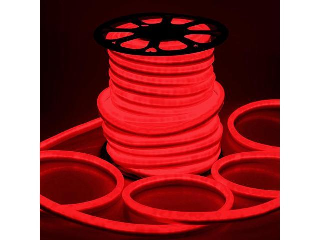 Delight 150ft Red Led Neon Rope Light Flexible Sign Holiday Decoration Lighting Indoor Outdoor