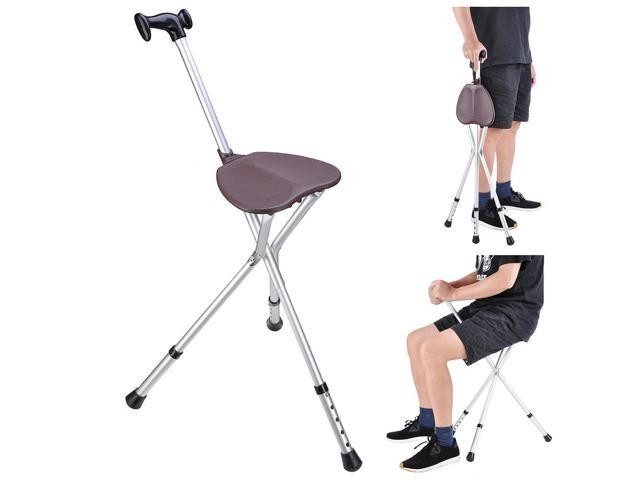 Admirable Folding Walking Stick With Seat Adjustable Height Tripod Gmtry Best Dining Table And Chair Ideas Images Gmtryco