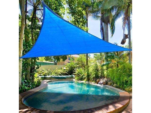 2x16.5\' Triangle Proof Medium Sun Shade Sail Pool Deck Yard Cover UV  Blocking