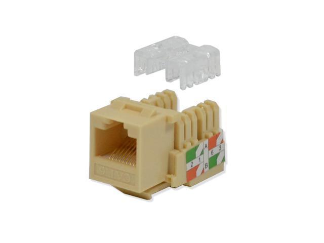 50 lot Keystone Jack Cat6 Green Network Ethernet 110 Punchdown 8P8C RJ45