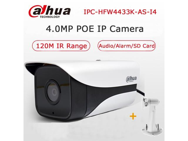 Dahua Starlight Bullet Camera H 265 4MP IPC-HFW4433K-AS-I4 IP camera with  POE Micro SD Card Slot Audio Alarm IP67 120Meters IR - Newegg com